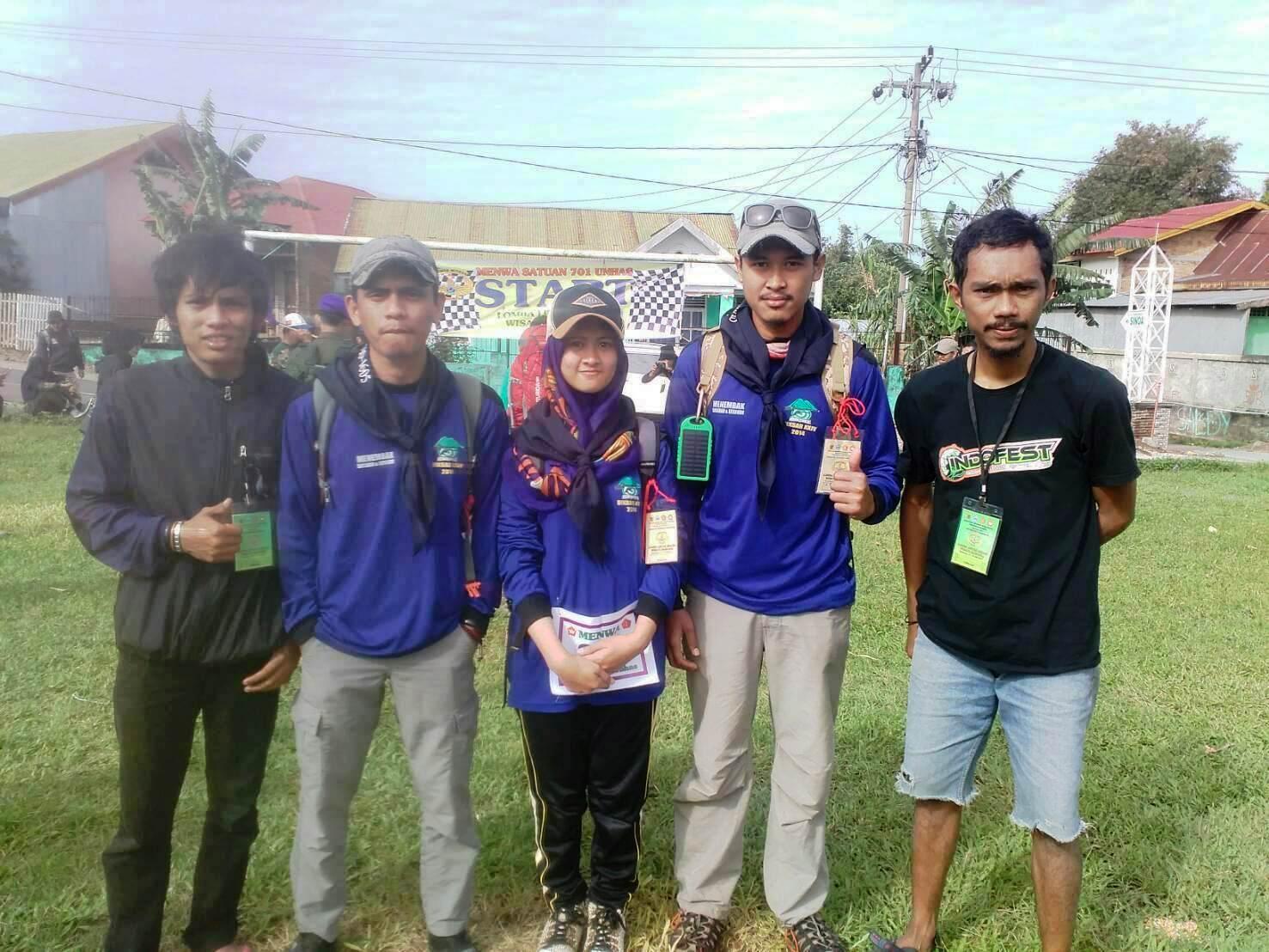 Tim Perbakin Unhas sebelum perlombaan berlangsung